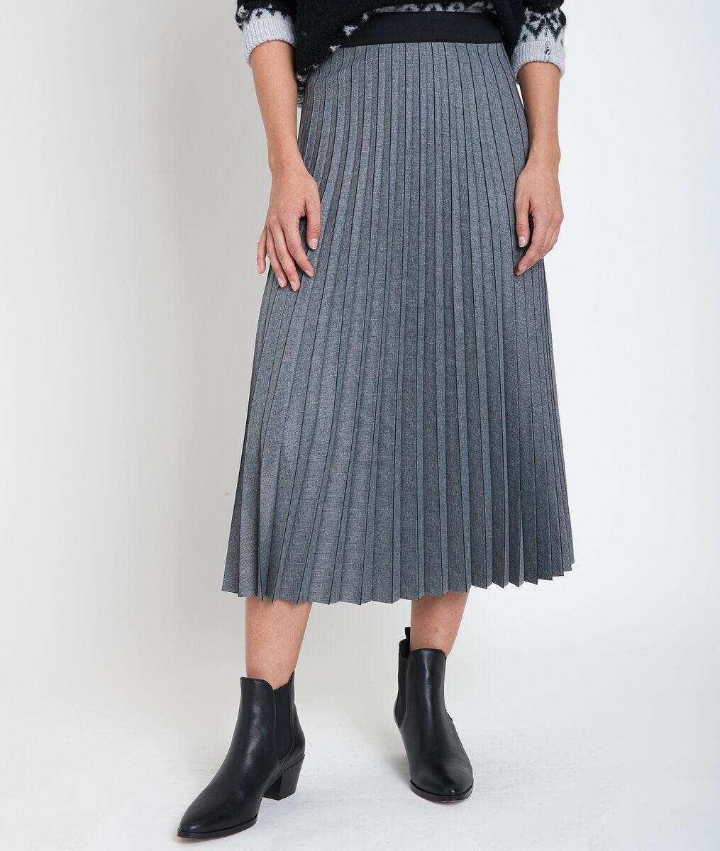 Grenade grey pleated maxi skirt PhotoZ | 1-2-3