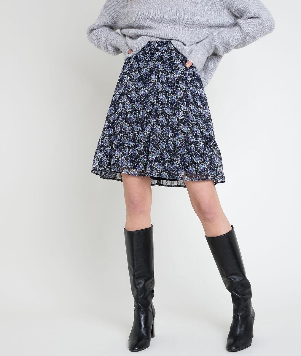 GAELLE short printed skirt PhotoZ | 1-2-3