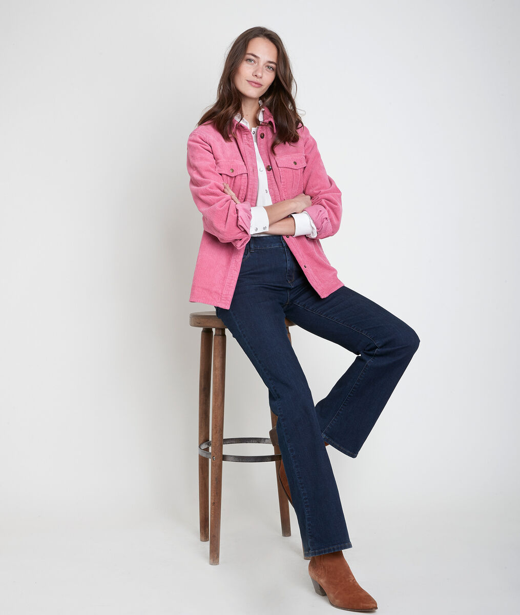 Perle pink corduroy over-shirt PhotoZ | 1-2-3