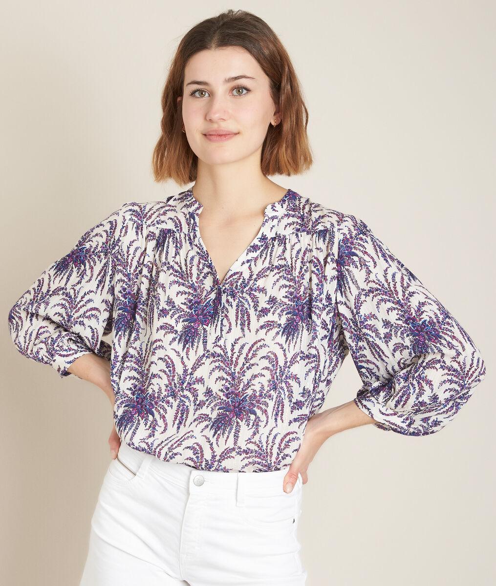 Elsa bis printed blouse PhotoZ   1-2-3