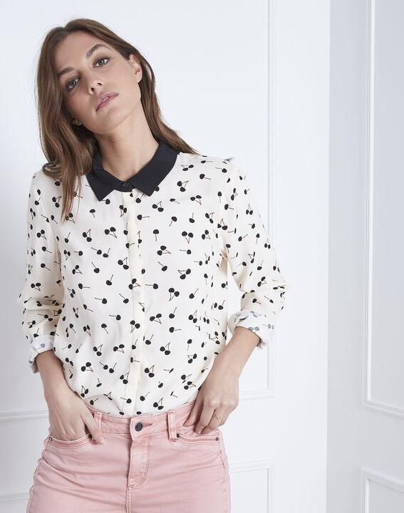 Venus cherry print pale pink  long-sleeved blouse (1) - Maison 123