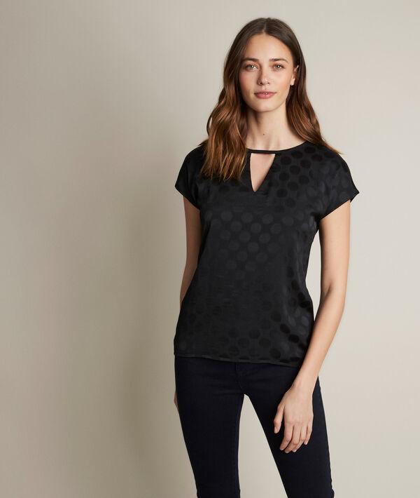 Rebecca polka dot two-fabric T-shirt PhotoZ | 1-2-3