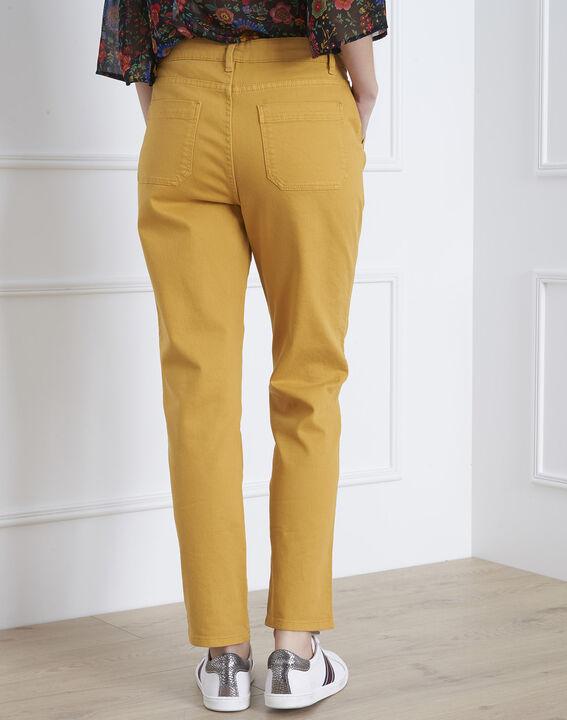 Coconut yellow 7/8 length boyfriend jeans (4) - Maison 123
