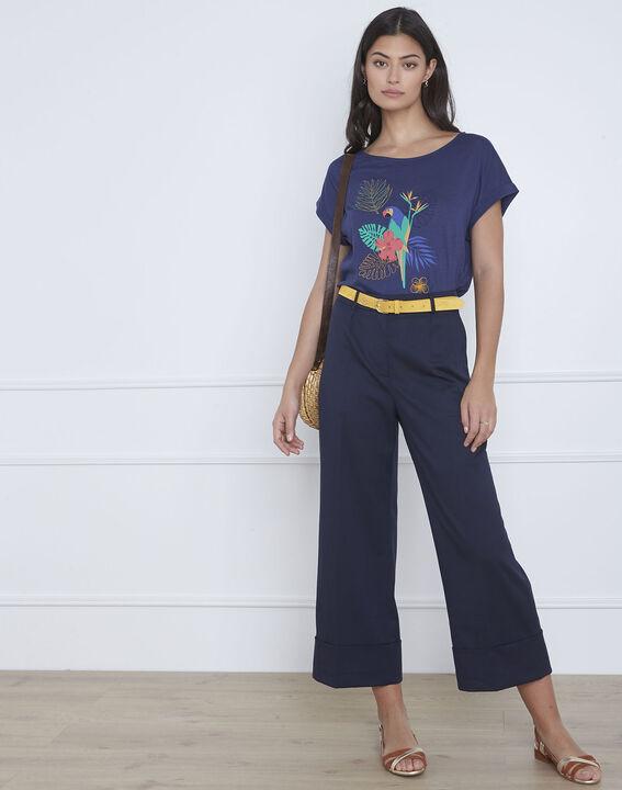 Petropolis blue parrot print T-shirt (1) - Maison 123
