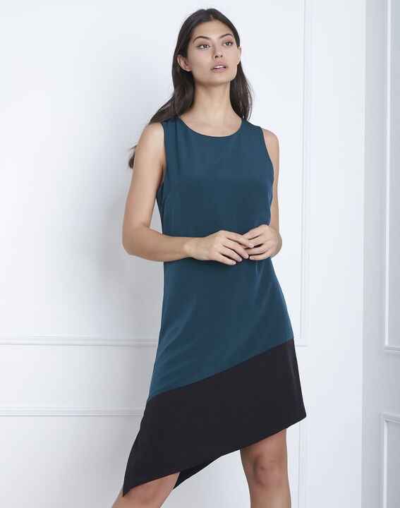 Horline dark green asymmetric dress PhotoZ | 1-2-3