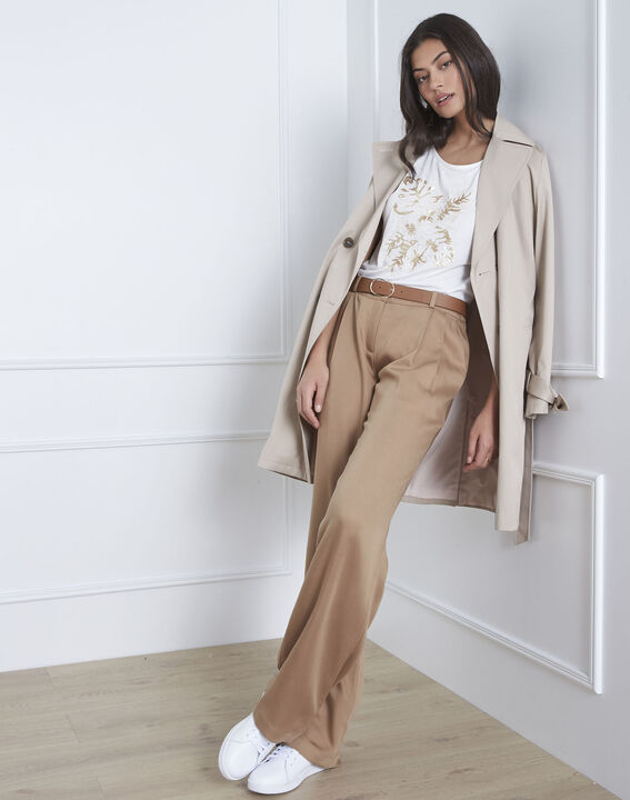Giovanna loose-fitting beige trousers PhotoZ | 1-2-3