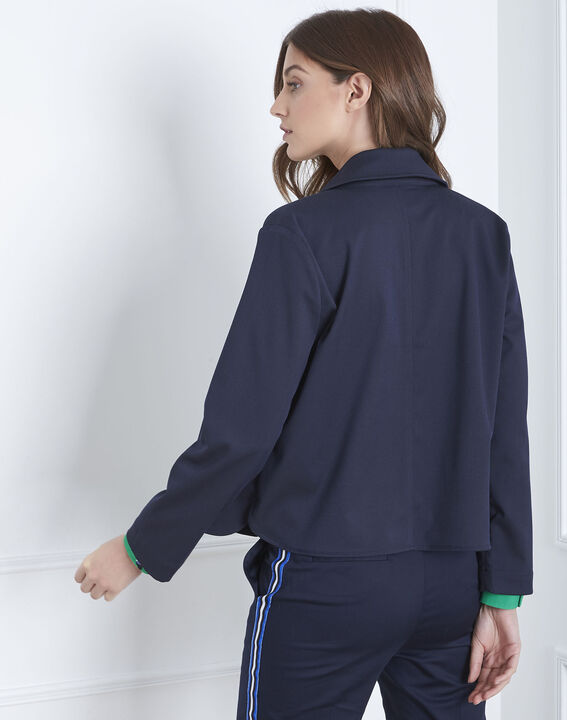 Felicia navy short jacket (4) - Maison 123