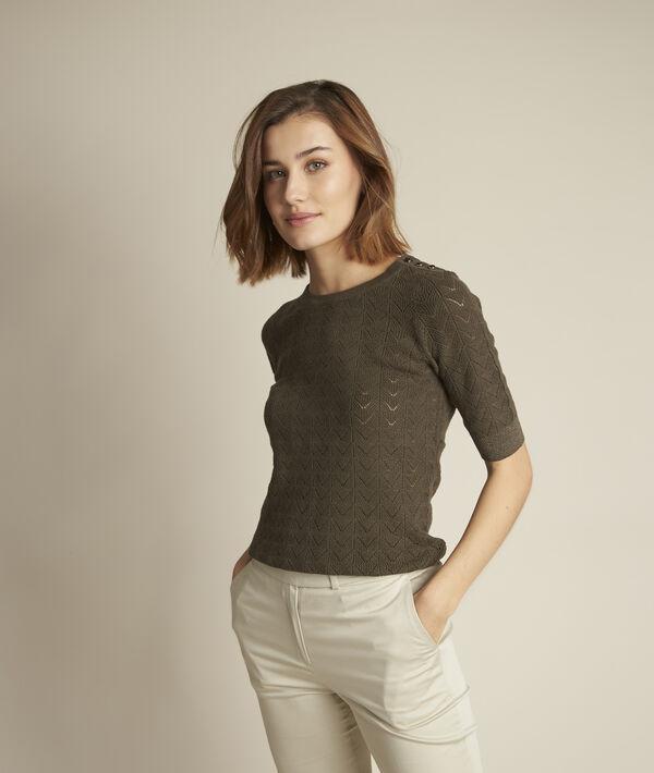 Dali khaki-coloured openwork jumper PhotoZ | 1-2-3