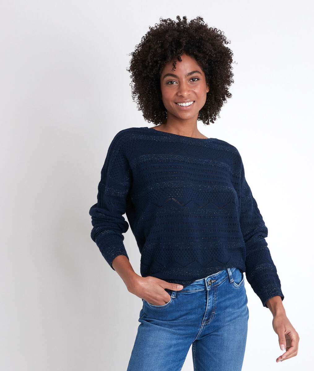 RIGGY navy openwork jumper PhotoZ | 1-2-3