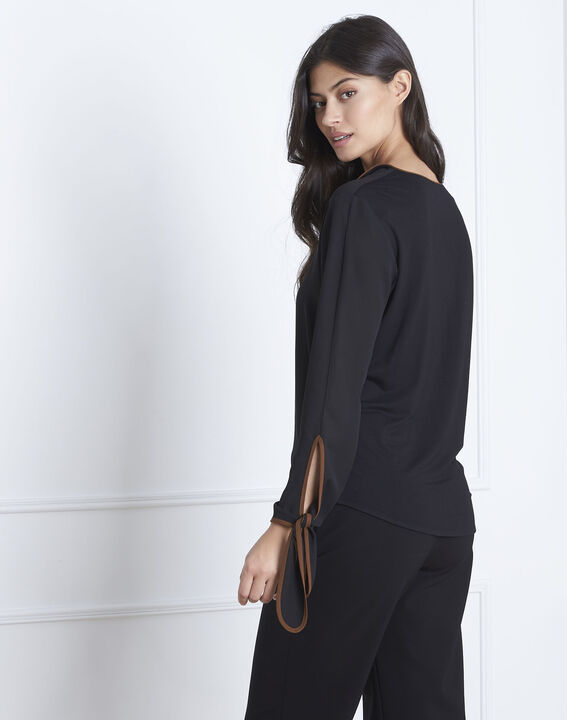 Victoire black blouse with contrasting bias (4) - Maison 123