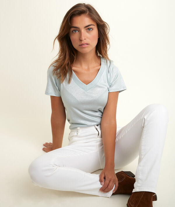 Ronie shiny lavender T-shirt PhotoZ   1-2-3