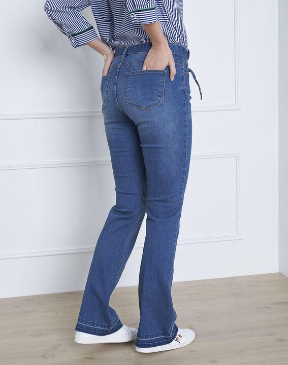 Coralie flared belted indigo jeans (4) - Maison 123