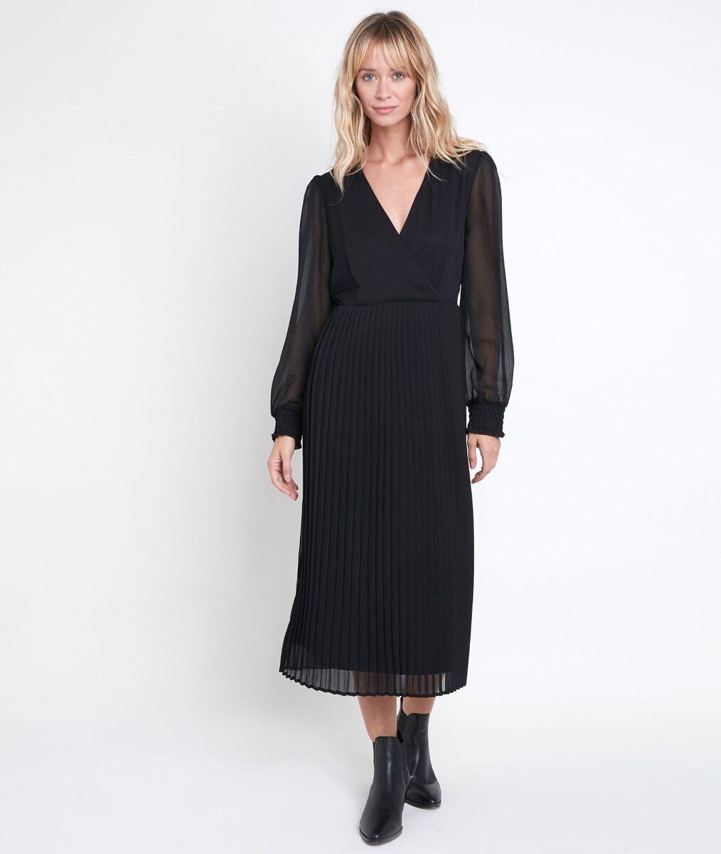 Caresse pleated wrap dress PhotoZ | 1-2-3