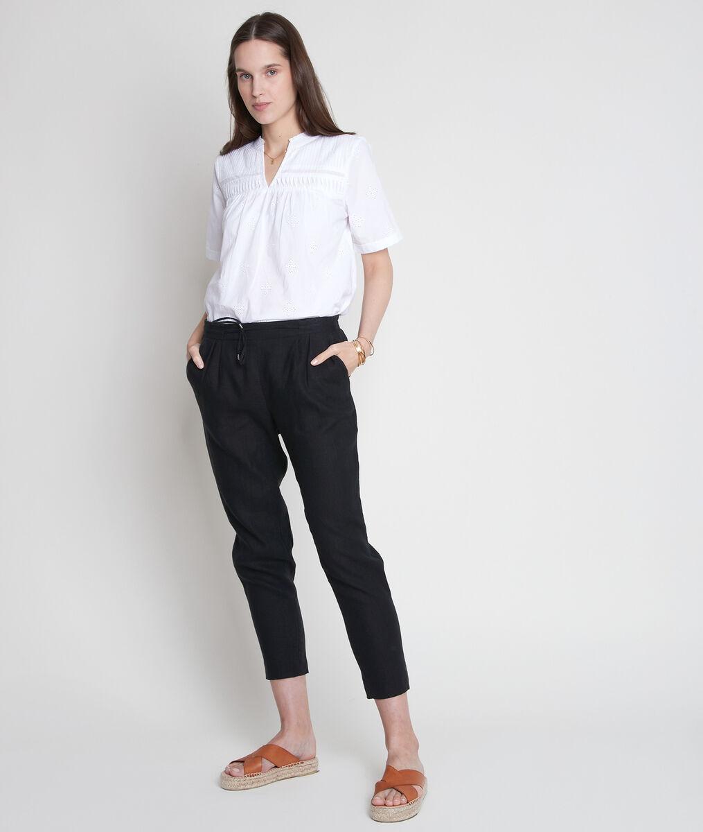 TOBIAS V-neck embroidered blouse PhotoZ   1-2-3