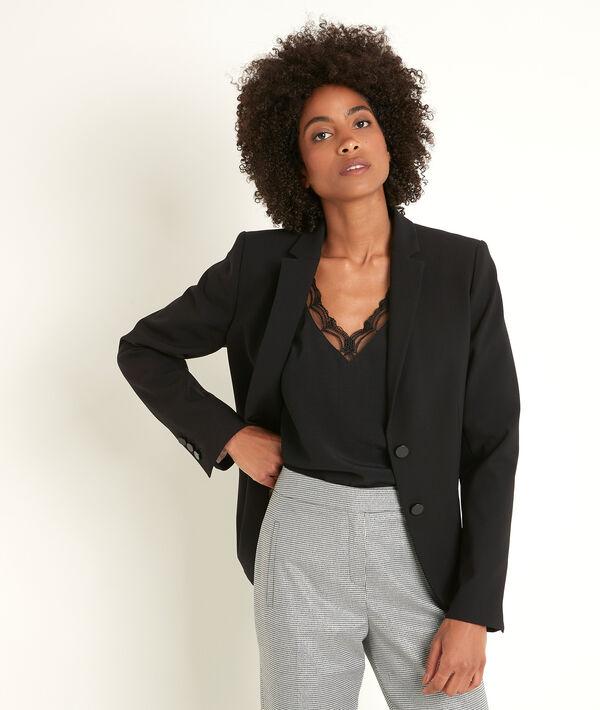 Sarry black microfibre jacket PhotoZ | 1-2-3
