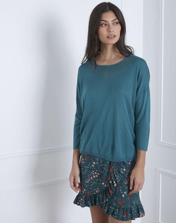 Avenir blue pullover with elegant collar (1) - Maison 123