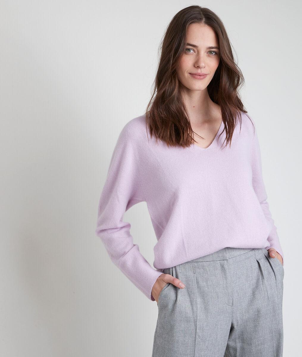 Ralph mauve cashmere pullover PhotoZ | 1-2-3