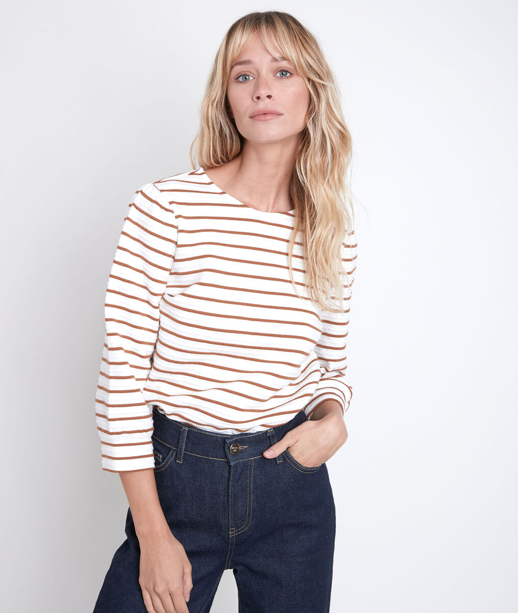Delice terracotta striped T-shirt PhotoZ | 1-2-3