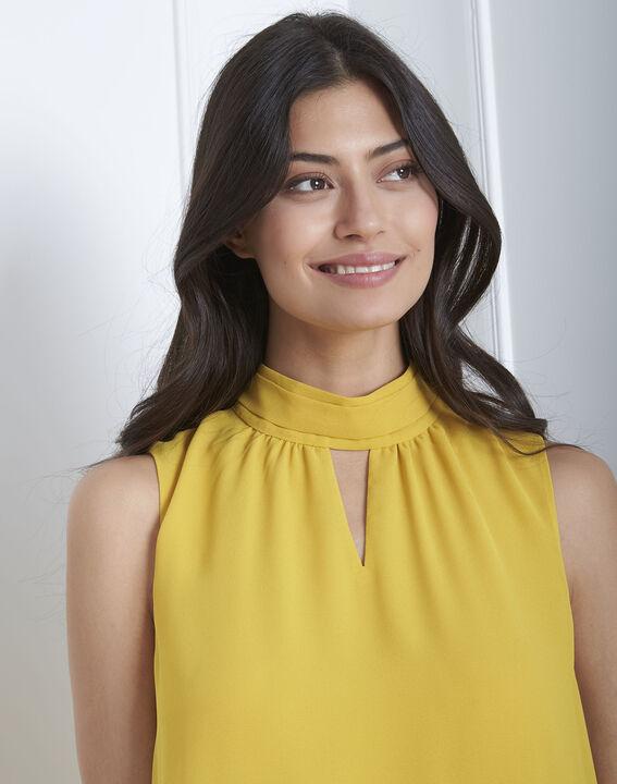 Heloise yellow high-neck dress (3) - Maison 123