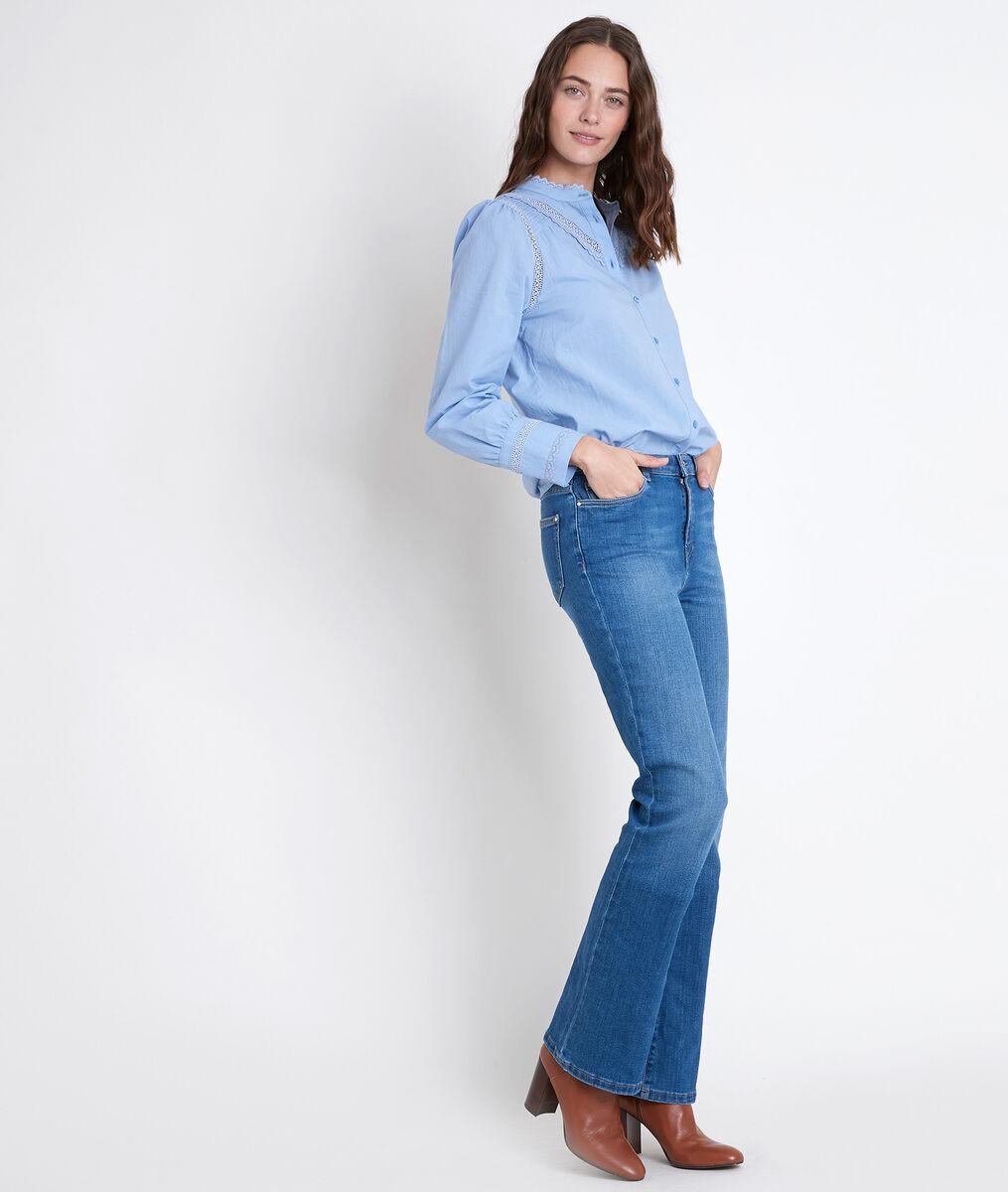 JOHANA lavender embroidered cotton blouse PhotoZ | 1-2-3