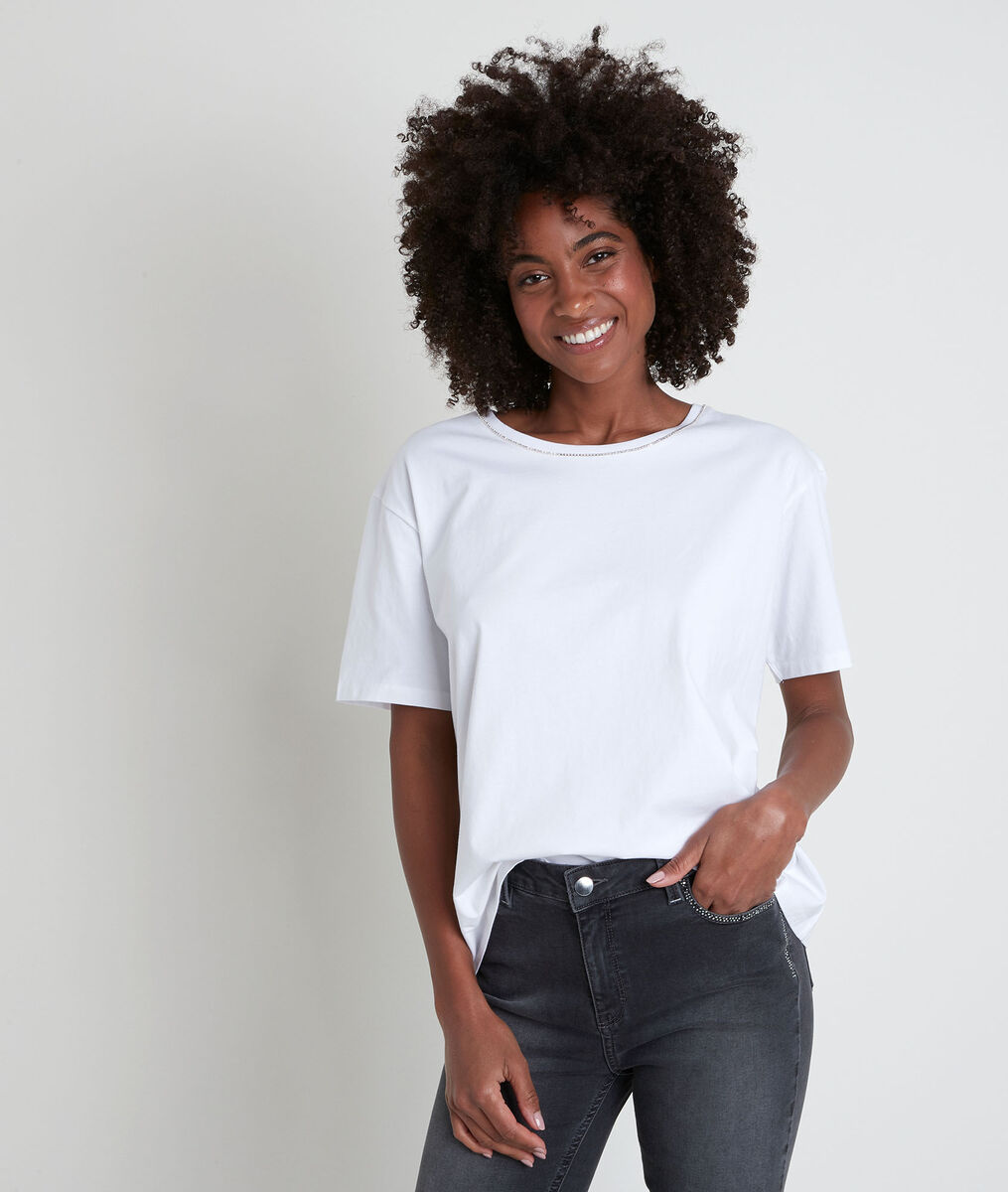 INOX white rhinestone T-shirt PhotoZ | 1-2-3