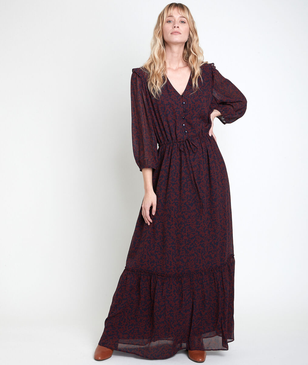 CLAIRE floral print maxi dress PhotoZ | 1-2-3