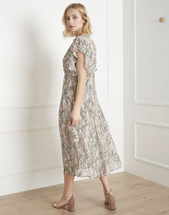Ludo ecru floral print dress (4) - Maison 123