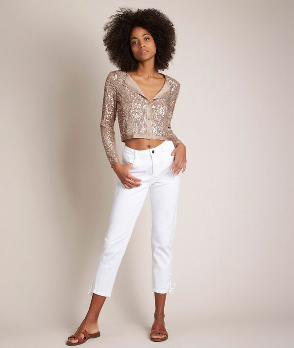 Rock cropped sequinned cardigan PhotoZ | 1-2-3