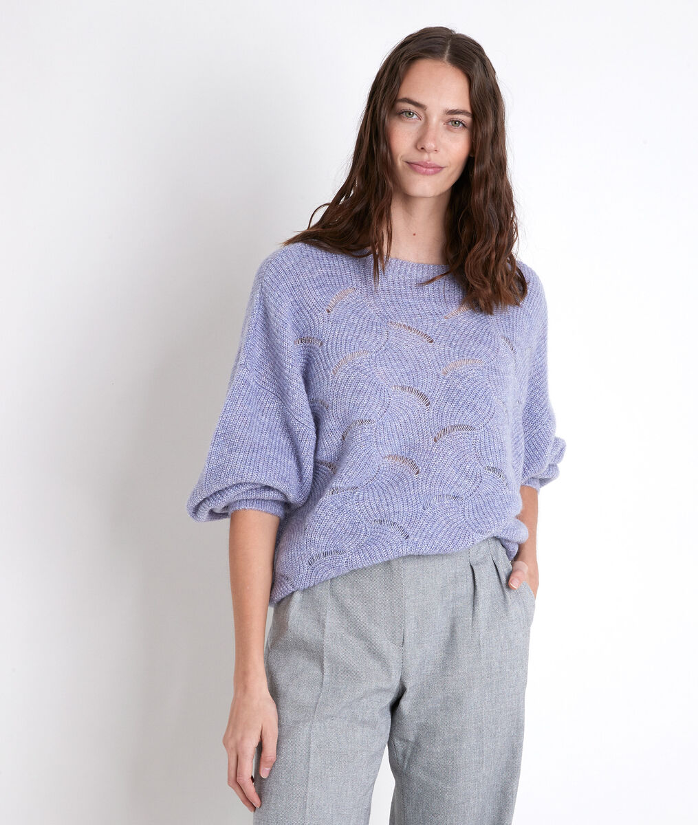 AMANDA fancy knit mauve jumper PhotoZ | 1-2-3