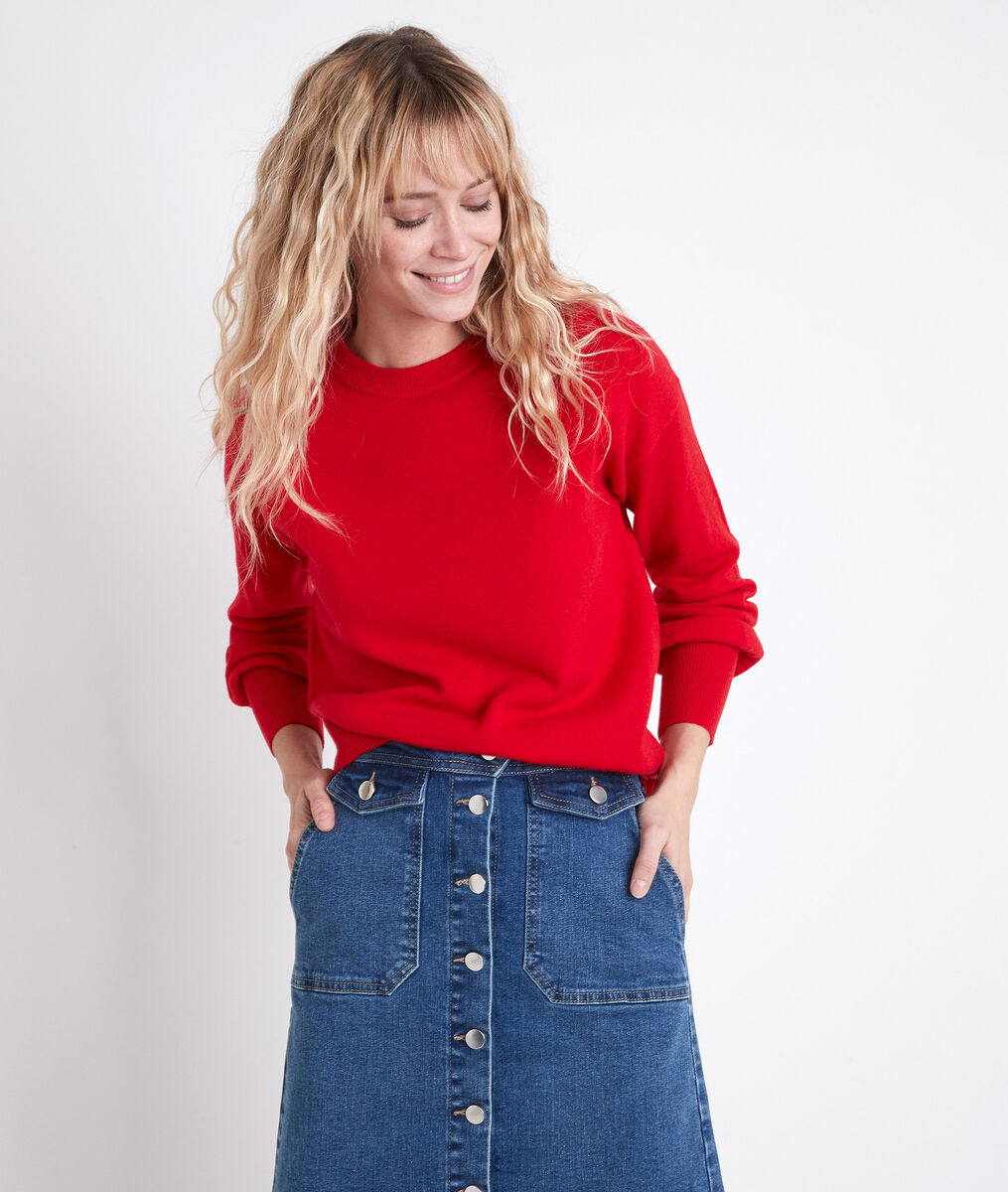 ALANIS red wool and cashmere jumper PhotoZ | 1-2-3