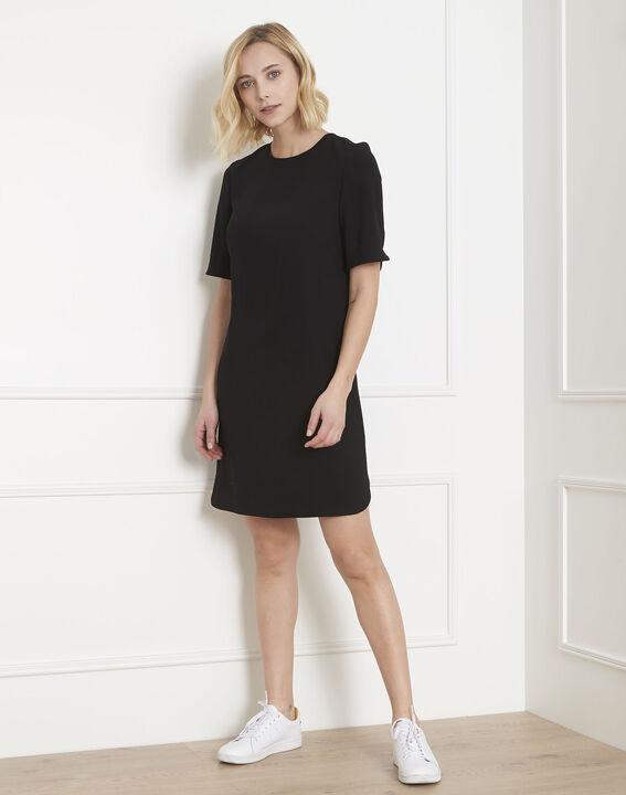 Liesse black crepe dress with grosgrain bow PhotoZ | 1-2-3