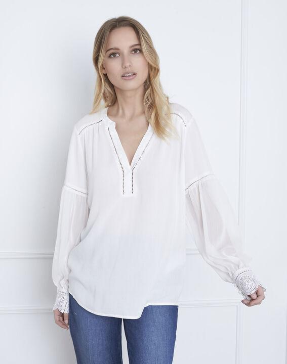Veronica ecru lace blouse (1) - Maison 123