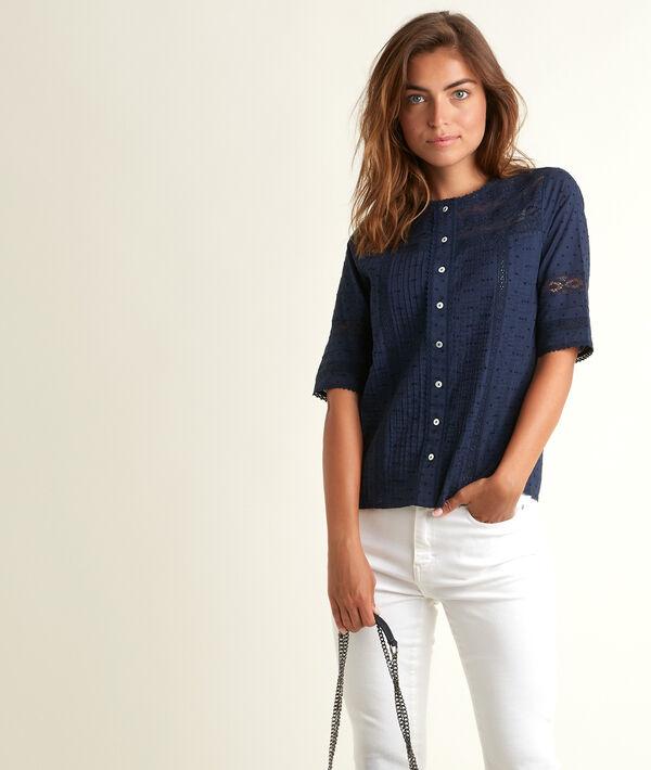 Edia blue lace blouse PhotoZ | 1-2-3