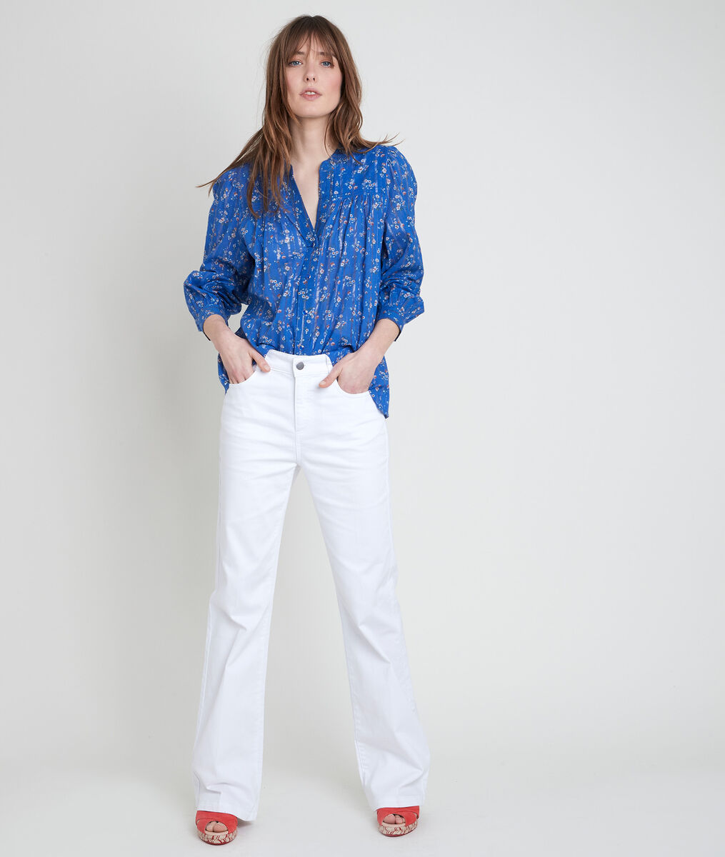TIFAINE forget-me-not printed blouse PhotoZ | 1-2-3