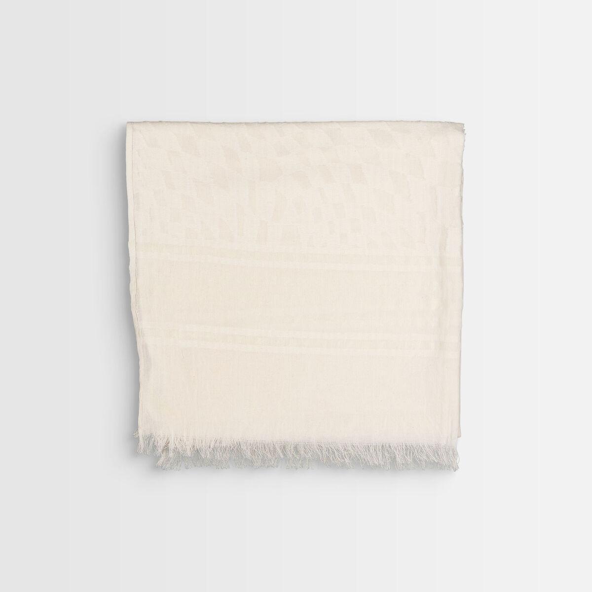 Brooklyn yellow organic cotton scarf PhotoZ | 1-2-3