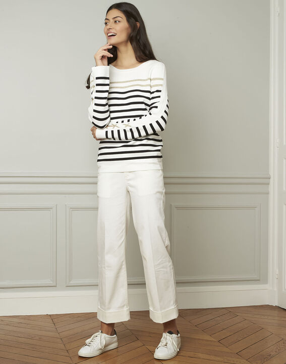 Amiral pullover with stripes and lacing details (2) - Maison 123