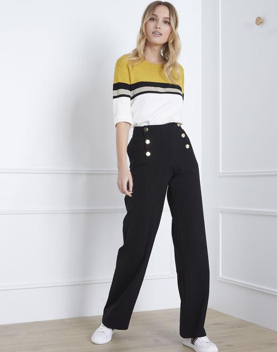 Absynthe yellow colourblock striped jumper (1) - Maison 123
