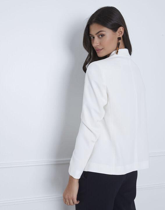 Sabrina white shawl-neck jacket (4) - Maison 123