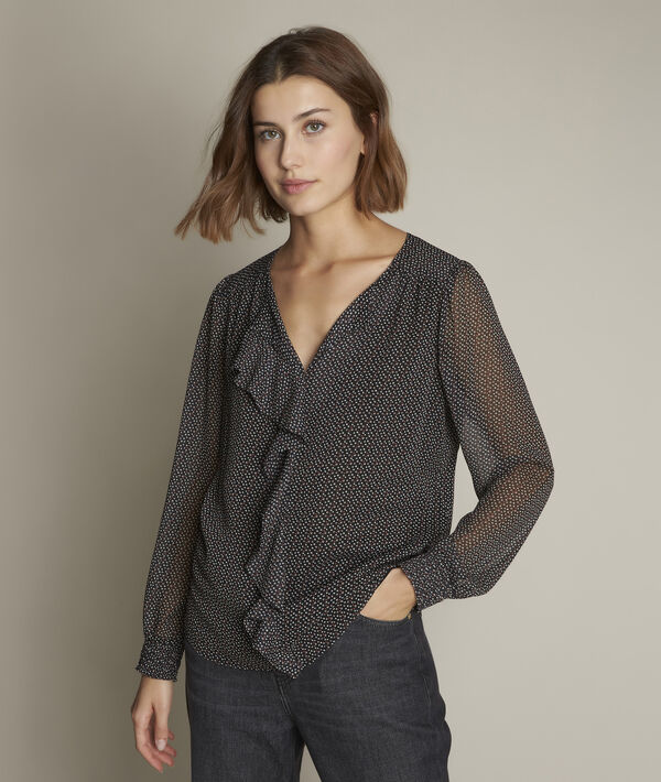 Eleanore printed blouse with ruffles PhotoZ | 1-2-3