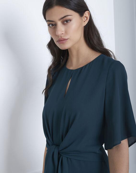 Hermine dark green draped dress (3) - Maison 123