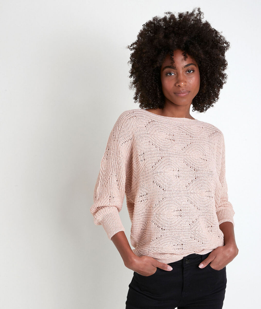 Amy pink openwork jumper PhotoZ | 1-2-3
