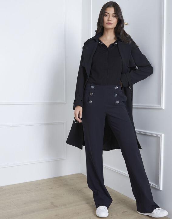 Avignon black graphic cardigan with contrast bias (2) - Maison 123