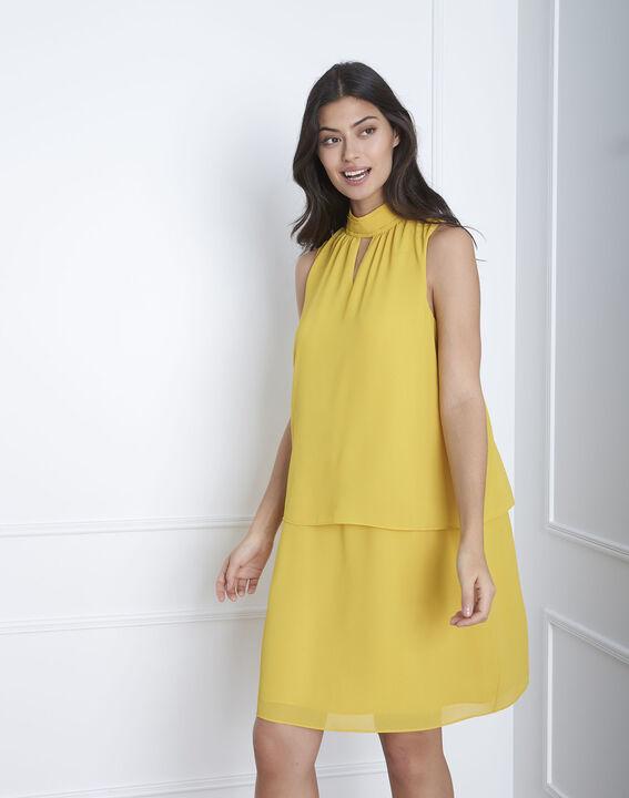 Heloise yellow high-neck dress (1) - Maison 123