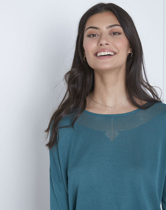 Avenir blue pullover with elegant collar (3) - Maison 123