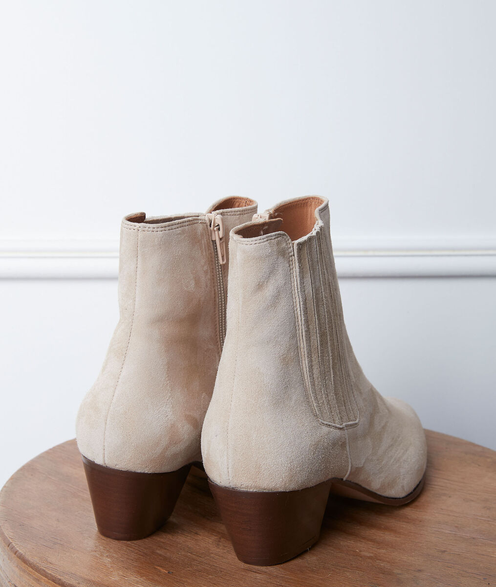 Gaby cream high-heeled ankle boots PhotoZ | 1-2-3