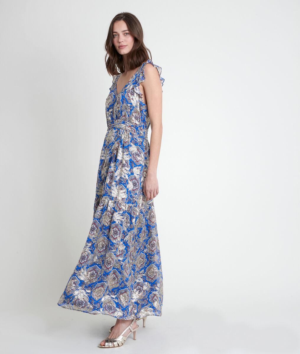 MARIE printed lurex maxi dress PhotoZ   1-2-3