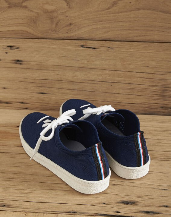 Ector navy knitted trainers PhotoZ | 1-2-3