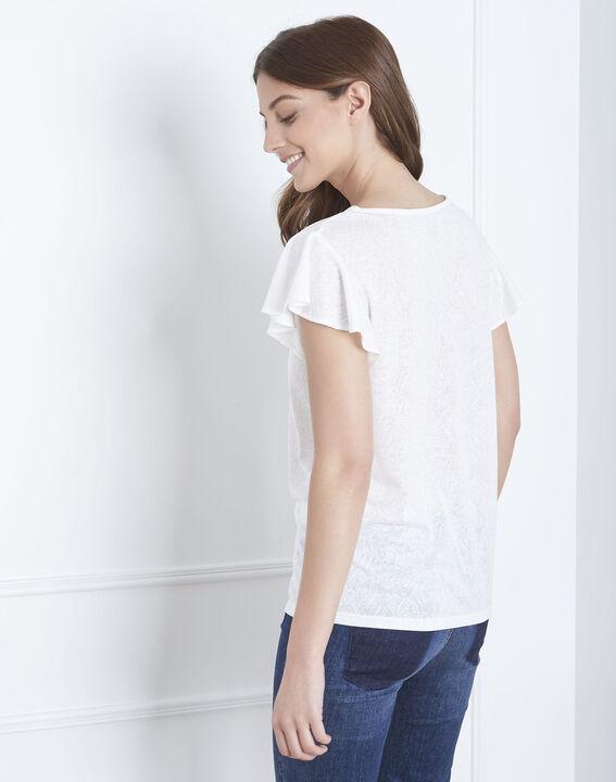 Palma ecru ruffled t-shirt (4) - Maison 123