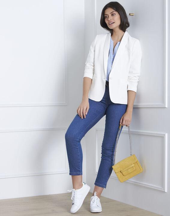 Roma sky blue linen blouse (2) - Maison 123