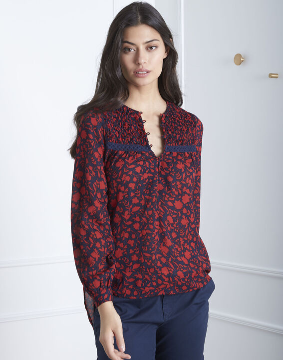 Vitae red printed blouse PhotoZ | 1-2-3